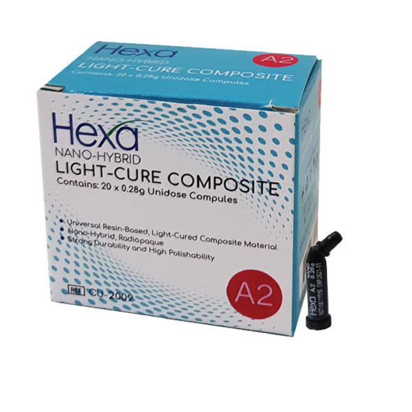 Hexa Nano-Hybrid Light-Cure Composite - A3, 20 x