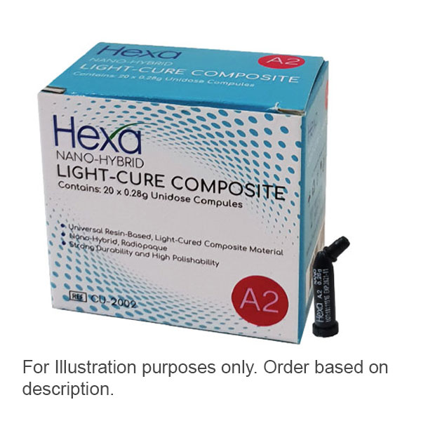 Hexa Nano-Hybrid Light-Cure Composite - B1, 20 x