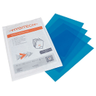 "Hygitech 6.3"" x 8.8"" Blue Protective Film, 50/Pk (10 x 5/Pk), Sterile, Single"