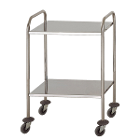 Hygitech Mobile Cart/Trolley with 2 Shelves. Shelve size: 60x40cm