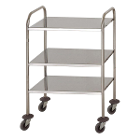 Hygitech Mobile Cart/Trolley with 3 Shelves. Shelve size: 60x40cm