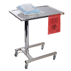 "Hygitech Mayo Table with Hydraulic Height Adjustment. Tray Size: 23.5""x17"""
