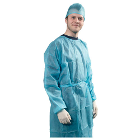 Hygitech Sterile Isolation Gown with Cotton Cuff , Large, 30/Pk. Made