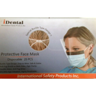 iDental Mask w/Shield, Buckle Type Design, BLUE/WHITE 25/Bx. Double-Sided