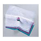 Face Drape Blue disposable face drapes with soft polypropylene fabric lower half and see-through