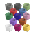 Indusbello Hexagonal Silicone Code Rings (Assortments), Used for identification