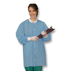 Defend Plus Sky Blue - Medium Knee Length Lab Coats 10/Pk. Provide comfort