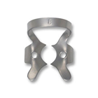 iSmile #8 winged stainless steel rubber dam clamp, matte finish, single clamp
