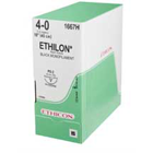 "Ethicon Ethilon 6/0, 18"" Black Monofilament Non-Absorbable Suture with Reverse"