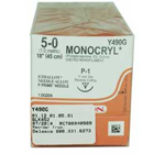 "Ethicon Monocryl 5/0, 18"" Monocryl Undyed Monofilament Absorbable Suture"