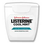 Listerine CoolMint LISTERINE Cool Mint Dental Floss - Mint Flavored, Waxed