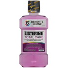 Listerine Total Care anticavity mouthwash, mint, case of 6 - 1 liter bottles