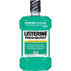 Listerine Fresh Burst Flavor Mouthwash, Case of 6 - 1.5 Liter Bottles