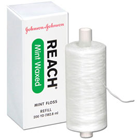 Reach Waxed Mint Dental Floss 200 yard. Individually boxed, wrapped. Air-entangled multi-filament