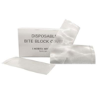 J. Morita Bite Block Covers 300/Pk. Clear Plastic, Disposable. To reduce