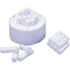 "Weltex Medium #2 (1-1/2"" x 3/8"") Non-Sterile Plain Cotton Rolls, 100%"