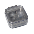 "JSP Crown Pillow Box 2"" x 2"" x 1"" tall 50/Pk. Made of clear plastic with two"