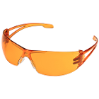 JSP Amber safety goggles. Single goggle. Extremely lightweight, weighing less