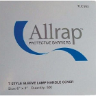 "Allrap Disposable Light Handle Sleeve 6"" x 3"" - Clear - 500/Box. For T-Style"