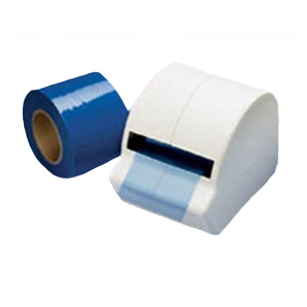 "Cover All 4"" x 6"" sheet of Blue Barrier Film with"