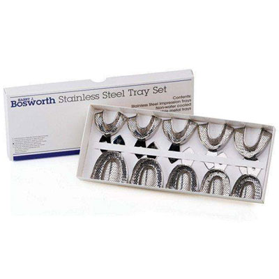 Bosworth Set of 8 - Edentulous Perforated Full-Arch Stainless Steel Impression