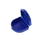 Bo-Box Blue Orthodontic Retainer Cases, bag of 10 boxes