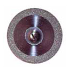 Keystone Ultra-Flex Diamond Disc, .17 mm x 22 mm dia. Single Sided, Each, 5