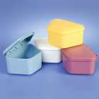 Keystone Denture Boxes, Assorted colors, 12/Bag. Soft plastic Denture Cups are