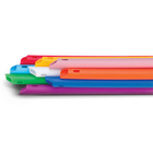 Keystone High Volume Evacuation Tips, S-shaped end, Assorted Bright Colors