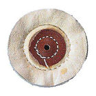 "Keystone Muslin Buffs with leather center, 3"" x 35 ply, pack of 12"