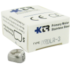 KTR Lower Right Primary First Molar Size 3 Nichro stainless steel crowns, box