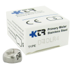 KTR Lower Right Primary First Molar Size 4 Nichro stainless steel crowns, box