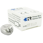 KTR Lower Left Primary Second Molar Size 3 Nichro stainless steel crowns, box