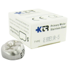 KTR Lower Right Primary Second Molar Size 5 Nichro stainless steel crowns, box
