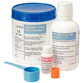 Instant Tray Mix 3 Lb  WHITE Powder & Liquid Pack  Self-Curing Custom Tray