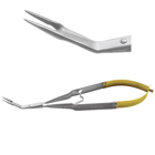 Laschal 45 degree angle N/S Steiglitz style forcep with thumb lock, serrated