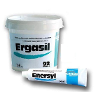 Ergasil C-silicone putty, 1.6 Kg. base plastic container, 60 ml Enersyl paste