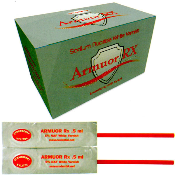 Armuor Rx White Varnish BUBBLE GUM Flavor 50/Bx.