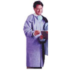 Maytex Lab Coats Disposable Lab Coats - Large Blue 30/Bx. Latex-Free Knit Cuff