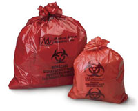Medical Action Biohazard Red Waste Bag, to Collec