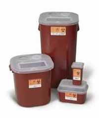 Medical Action 16 Gallon Sharps Container, Red, 1