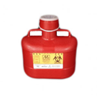Medical Action 6.2 Quart Sharps Disposal Container, Red, veritcal Drop, locking