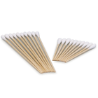 "Medicom 6"" Cotton Tipped Applicators, Non-sterile, wood shaft with single"