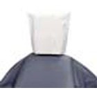 "Medicom 10"" x 13"" White Tissue/Poly Head Rest Covers, Box of 500 Covers"
