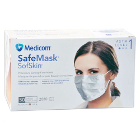 Safe+Mask Sof Skin Earloop Mask WHITE 50/Pk Fluid Resistant. Extra soft