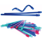 "SafeBasics 6"" Saliva Ejectors Clear Blue w/ Blue Tip 105/Pk. Easily shapes"