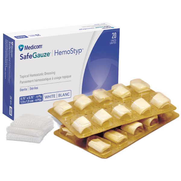 SafeGauze HemoStyp Topical Hemostatic Dressing 0.
