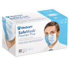SafeMask Premier Plus Blue Ear-Loop face Mask, 50/Bx. ASTM Level 2, Moderate