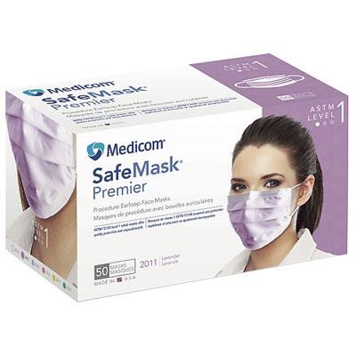 0d041d0a SafeMask Premier Safe-Mask Premier - LAVENDER Ear-Loop Face Mask, 50 ...