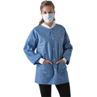 SafeWear Hipster Jacket - Deep Blue - Small 12/Pk. Made from high quality sunbound meltblown
